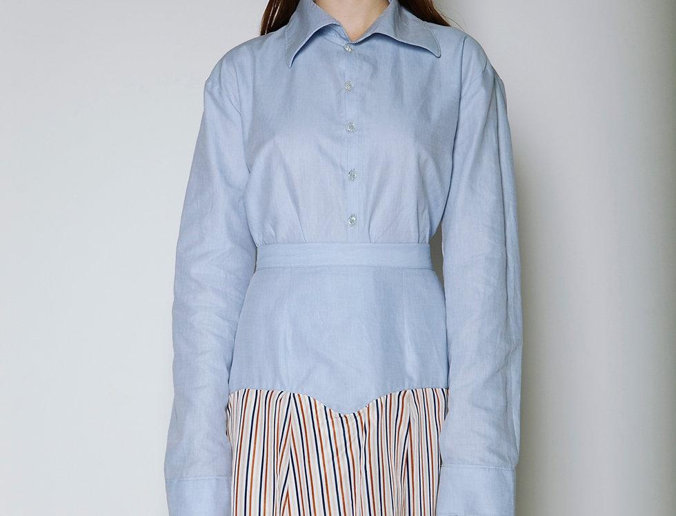 Sky Blue Striped Skirt