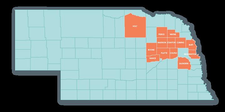 Northeast Nebraska Juvenile Services Contract Counties