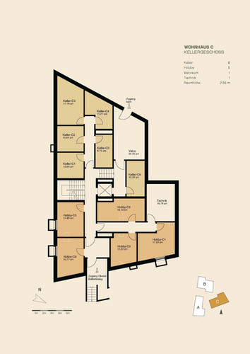 Untergeschoss Haus C