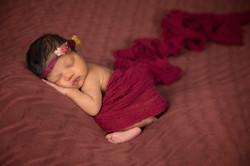 Newborn Angel in Red