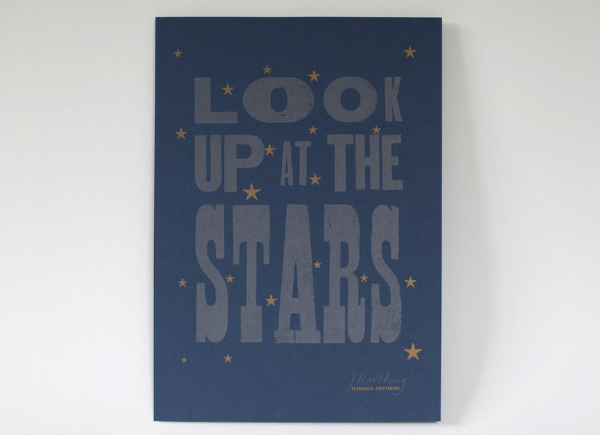 Look_Up_At_The_Stars_Letterpress_Print_Hannah_Farthing