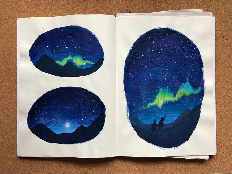 Hannah_Farthing_Northern_Lights_Sketchbook_Drawings_Paintings