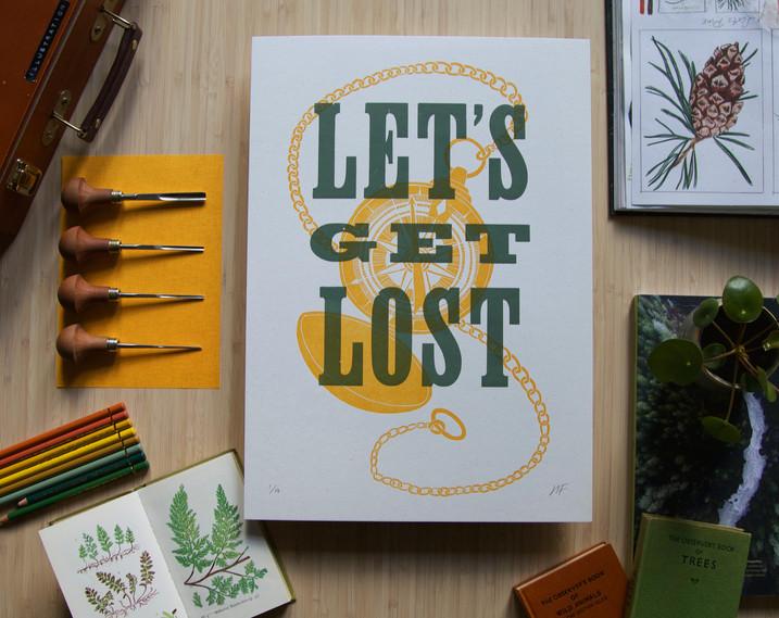 Hannah_Farthing_Lets_Get_Lost_Letterpress_Linocut_Print