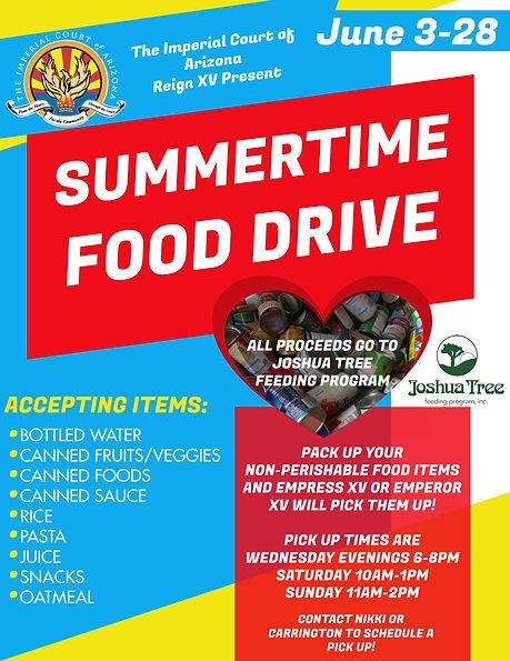Summertime. Food Drive.jpg