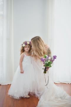Flower Girl Floral Headpiece & Bridal Bouquet