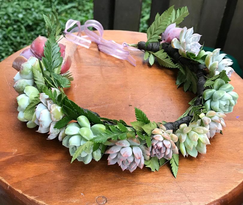 Bridal Succulent Crown