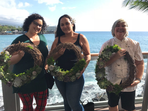 Succulent Wreath Holiday Workshop