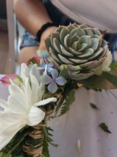 Succulent Haku Lei Workshop