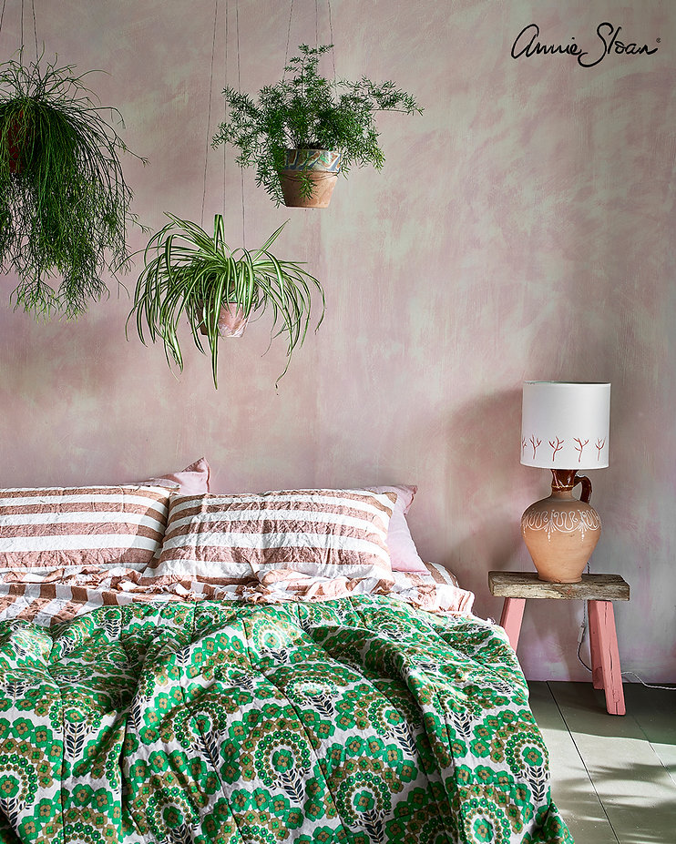 Pink-and-green-bedroom-Wall-Paint-Antoin