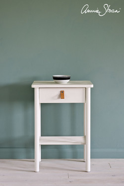 Old-White-side-table
