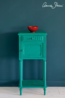Florence-side-table,-Aubusson-Blue-Wall-