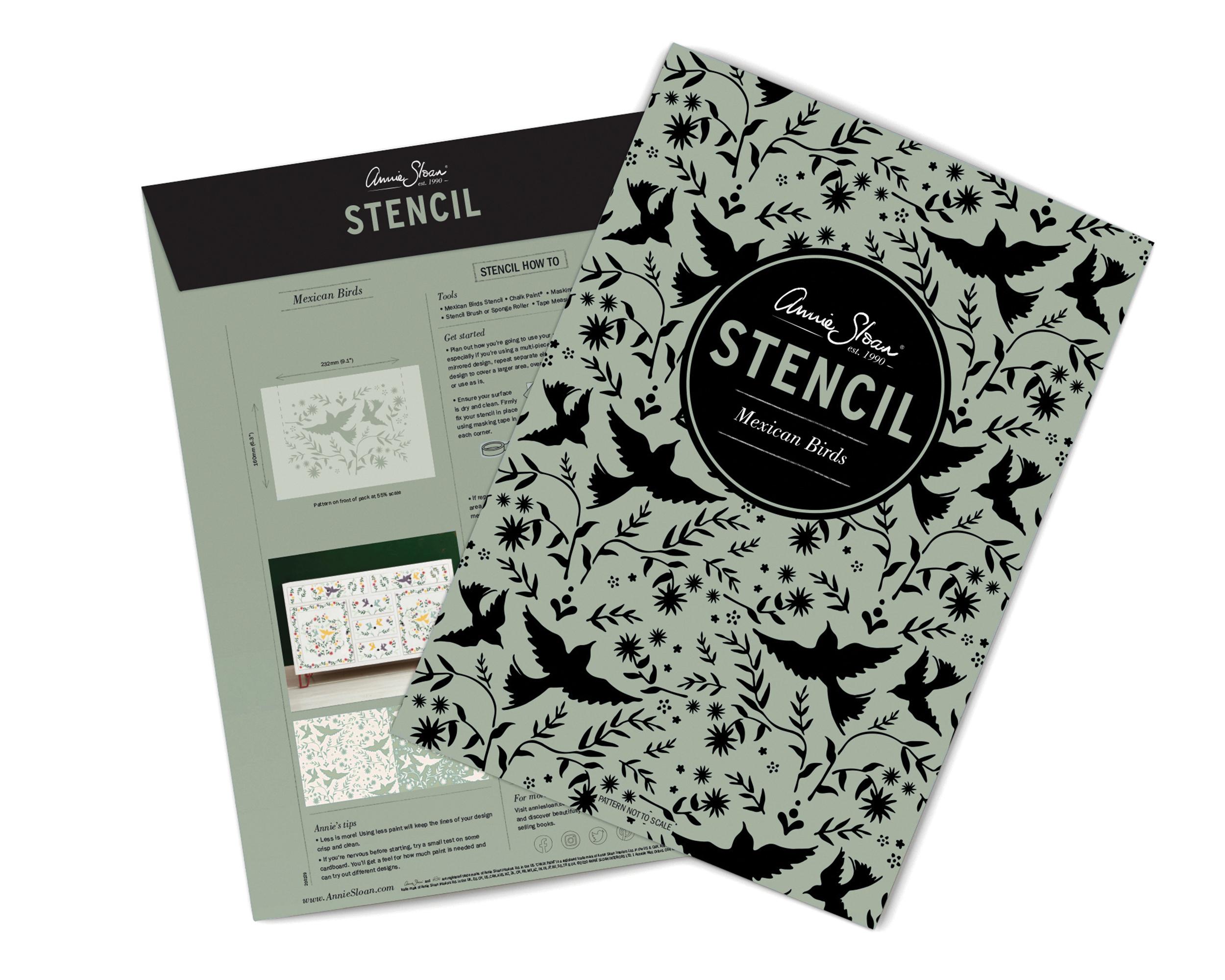 Mexican-Birds-Annie-Sloan-Stencil-packag