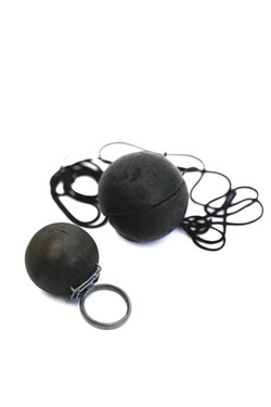 burned Ball Pendant and Ring