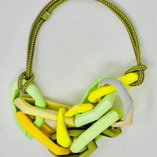 Abundant lime green Link Necklace
