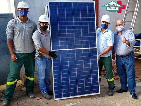 Sistema de geração de energia solar no Hospital e Maternidade São José de Barra Bonita