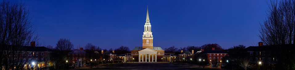 Wake Forest Lit Up at Night