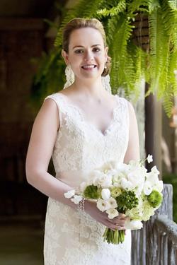 Wedding Hair Chignon Knot & Makeup
