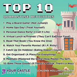 Top 10 Quarantine Activities