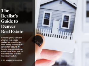 The Realist's Guide to Denver Real Estate – 5280 Magazine