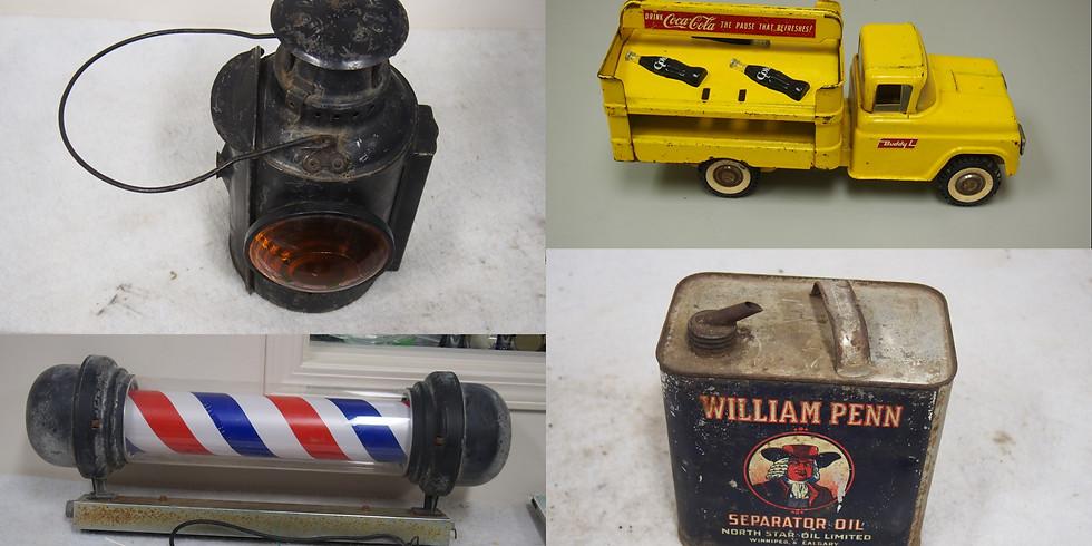 St Patrick's Petroliana & Toy Collector Antique LIVE Online Auction Sale
