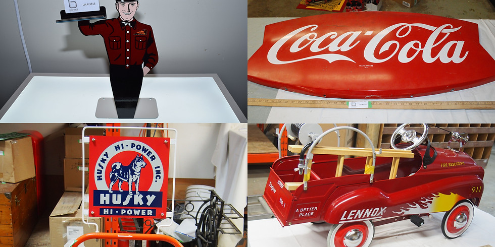 Valentine's Petroliana & Toy Collector Antique Online Auction WITH A LIVE AUCTIONEER