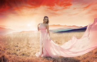 pink long glamour dress in springfield mass