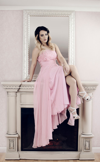 pink glamour dress in springfield mass