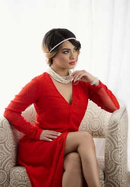 Red glamour dress in springfield mass