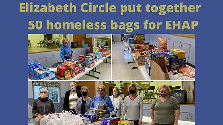 Elizabeth Circle created 50 homeless bag