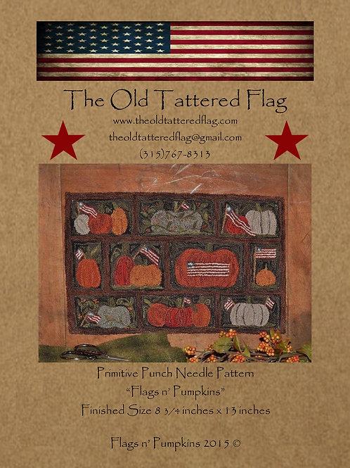 Flags n Pumpkins Punch Needle Pattern (Qty. 3)