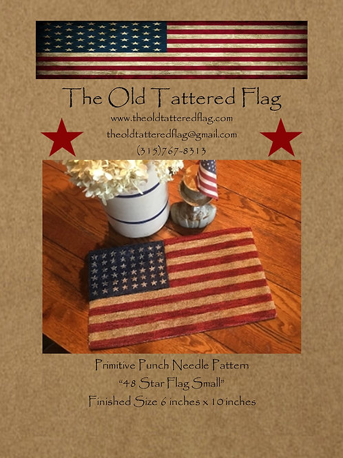 48 Star Flag Small Punch Needle Pattern (Qty. 3)