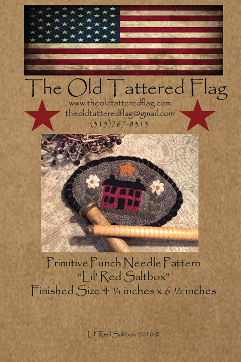 Lil Red Saltbox Punch Needle Pattern (Qty. 3)