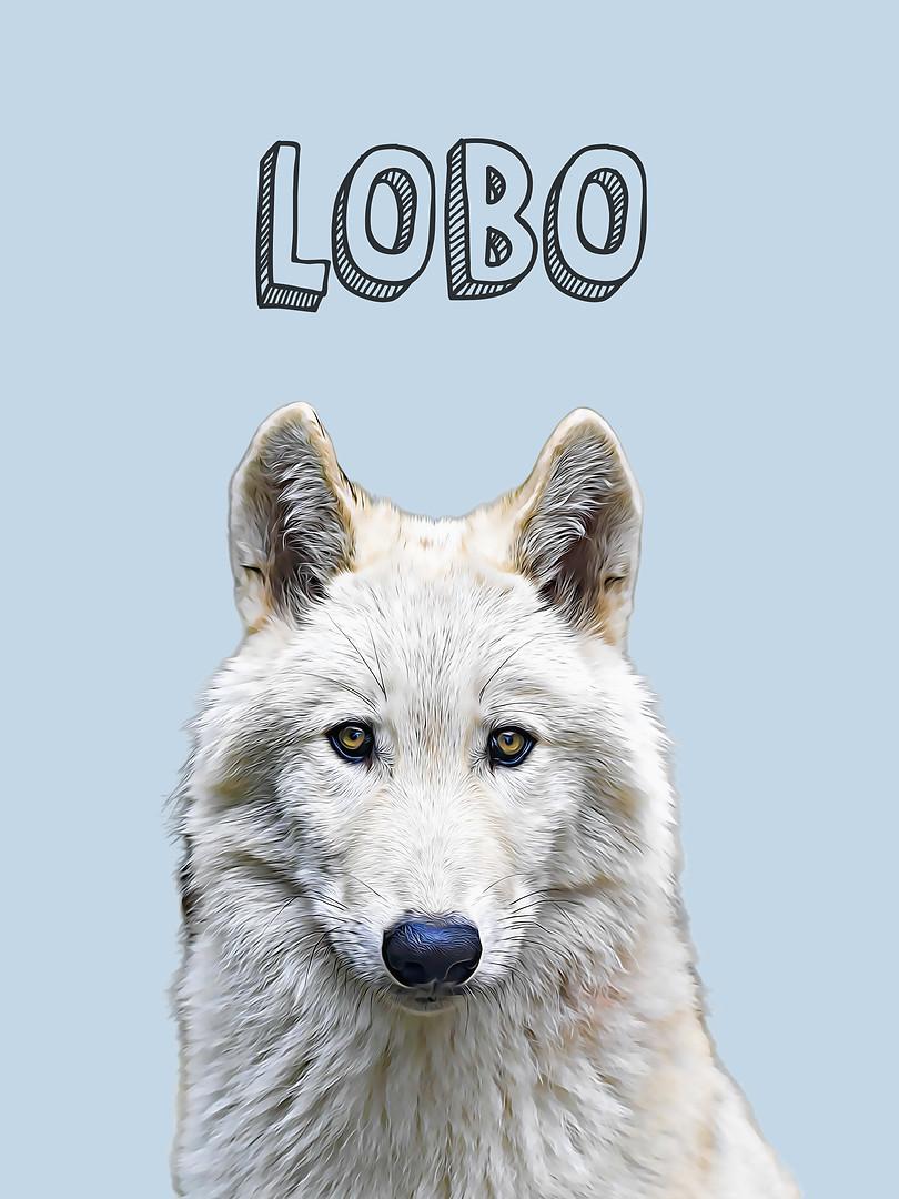 Lobo-Sé poderoso-Animales Nursery