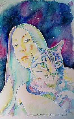 watercolour Portrait Gabriela Gaia Love