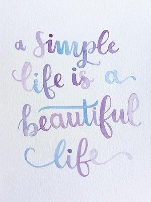 Una vida sencilla es una hermosa vida
