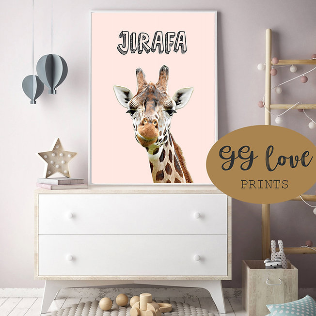 habitacion bebe-Jirafa-GG Love Prints.jp