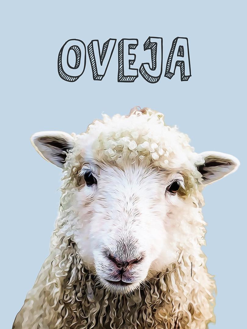 Oveja-Sé suave-Animales Nursery