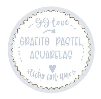 Sello Grafito pastel acuarelas- transpar