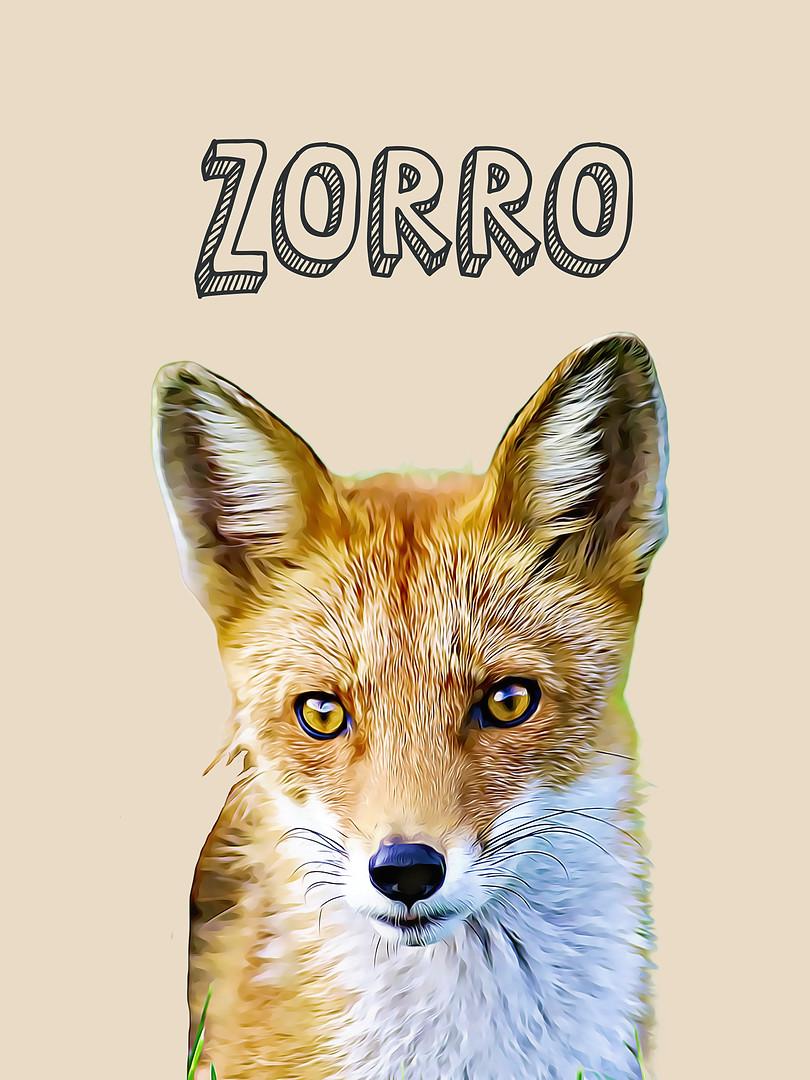 Zorro-Sé astuto-Animales nursery