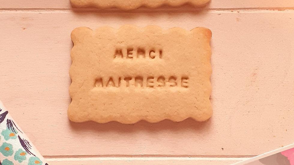 Biscuits merci maîtresse ou maître
