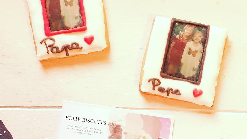 Biscuits cadre photo