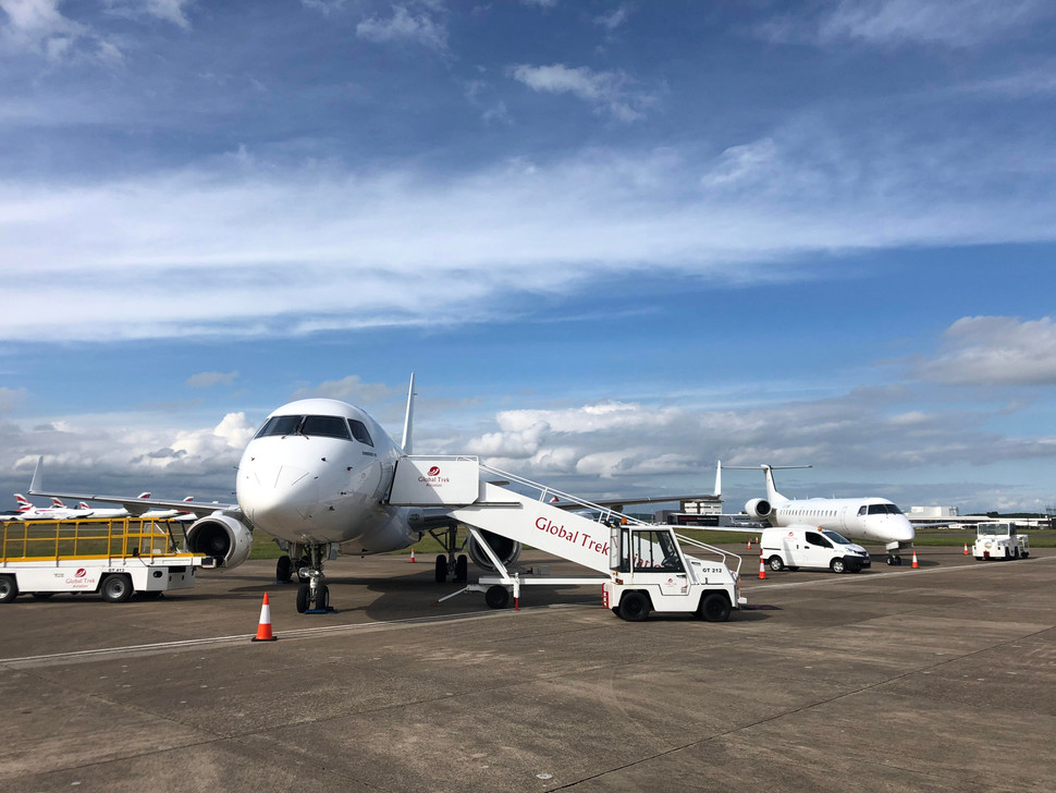 Global Trek Aviation at Cardiff Int'l Airport, Wales, UK (EGFF) recently celebrated its 1 year anniv