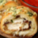 Chicken Parmesan-Stuffed Garlic Bread