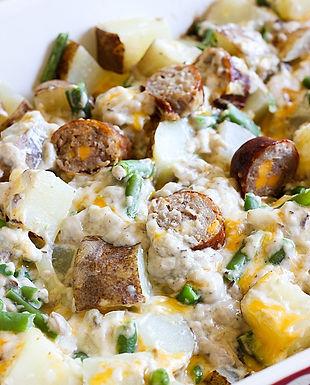 Potato and Brat Casserole