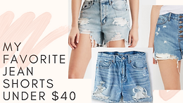 Current favorite jean shorts all under $40!