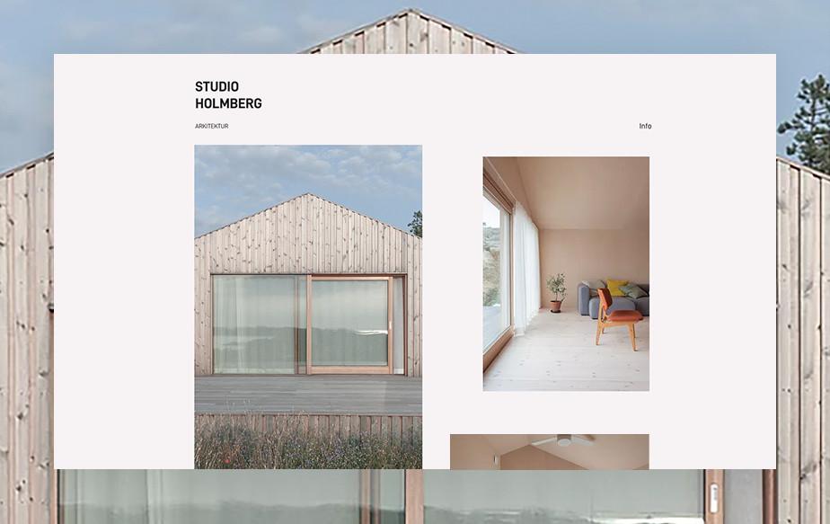 studio holmberg best portfolio websites