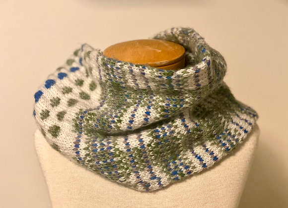Plaid & Polka Dots Cowl