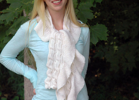 Ruched Ruffled Scarf