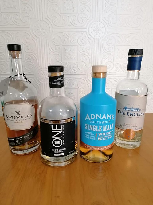 English Whisky Tasting Set for 2 People