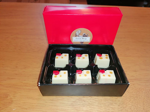 Assay Rhubarb and Custard Gin White Chocolate Truffles by Cocoa Drop